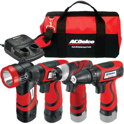 ACDelco ARZ8CSP1 Li-ion 8-Volt 4-in-1 Drill/impact/light Combo, 2 battery+Canvas bag