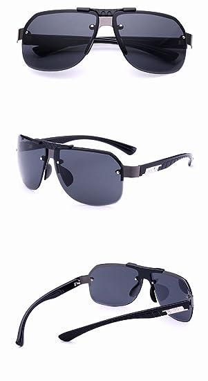sonnenbrille Männer metall Kopie Linse brillen mode Große rahmen sonnenbrille Persönlichkeit Jurte Doppelte graue Linse Gkc3Nio3c