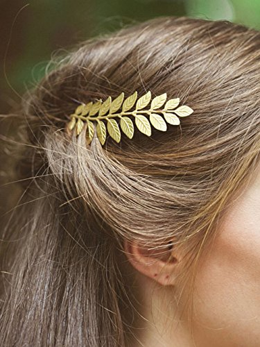 Yean Bridal Hair Combs, Wedding Gold Leaf Hair Comb for Bride and Bridesmaid for $<!--$7.66-->