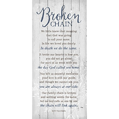 Chain Plaques - Dexsa Broken Chain 6 x 9 Wood Plank Look Wall Art Plaque ...