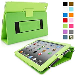 Snugg Leather Kick Stand Case for Apple iPad 2 - Green
