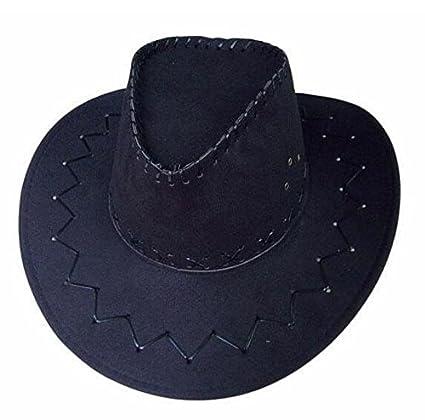 b8d4c44e2cf44 WDBS Sombreros de caballeros occidentales sombrero de vaquero para hombres  y mujeres sombrero de cowboy de