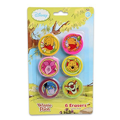 Disney Winnie the pooh erasers - 6 erasers by - Peachtree Mall