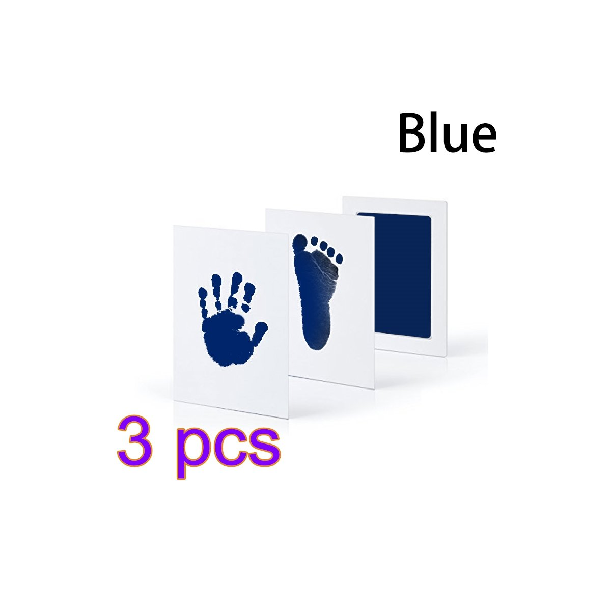 HappyForward 3pcs Baby Inkless Touch Ink Pad Toddler Safe Non-Toxic Footprint Handprint Ink PadsBaby Souvenir