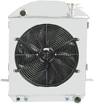 """Custom Aluminum Fan Shroud /& 16/"""" Fan-19 1//8/""""H x 19/""""W Ford Bronco w//Ford config"""