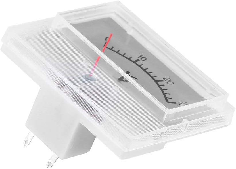 Wei/ß Professionelle DC 0-30V Analog Volt Voltage Panel Meter Voltmeter Messger/ät mit Genauigkeitsklasse 2,5 tragbar und praktisch