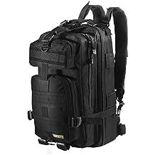 Eyourlife Military Tactical Backpack Small Rucksacks Hiking Bag Outdoor Trekking Camping Tactical Molle Pack Men Tactical Combat Travel Bag 20L