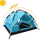 Camel Fourth-generation Automatic Hydraulic Tent for 2-3 Person Outdoor Rainproof Camping (Blue)