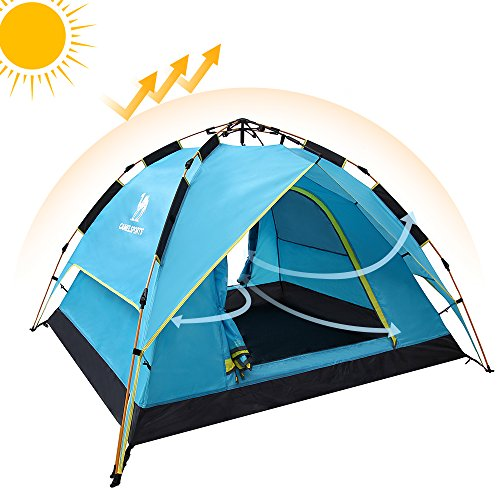 Camel Fourth-Generation Automatic Hydraulic Tent for 2-6 Person Outdoor Rainproof Camping