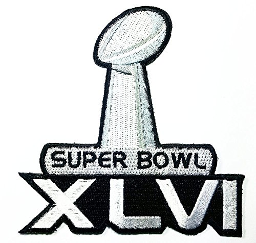 Super Bowl Xlvi Patch Embroidered Iron On Hat Jacket Hoodie Backpack Ideal For Gift  9 7Cm W  X 9 8Cm H
