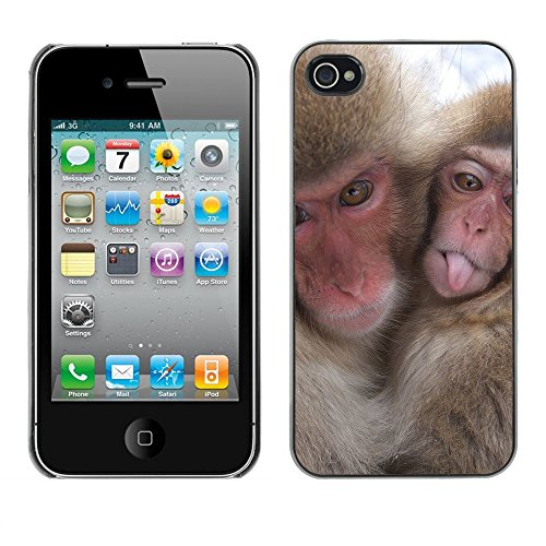 Premio Sottile Slim Cassa Custodia Case Cover Shell // F00012262 singe // Apple iPhone 4 4S 4G