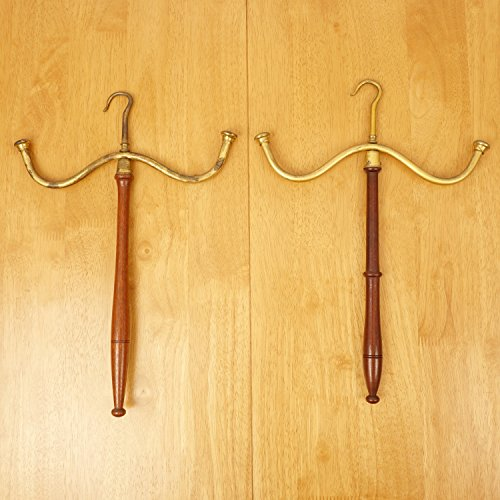 - Set of two brass barristers wig and gown hangers || Vintage solid brass and wood || Set of two