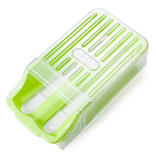 B&Y Freezer Refrigerator Storage Plastic Egg Holder-12-egg Capacity (Green) (Cast Iron Chicken Egg Holder compare prices)
