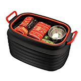 Prom-near 37L Collapsible Bucket Storage Bucket Portable Outdoor Fishing Bucket Car Wash Bucket Car Retractable Trash cans Household Folding Bucket Toy Storage Bucket Laundry Sorting Basket