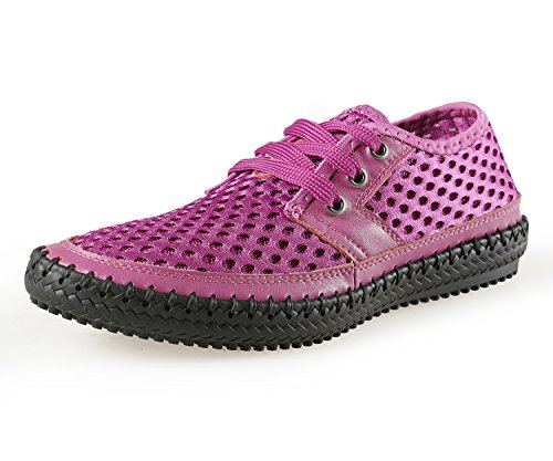 Norocos+Women%27s+Water+Shoes+Mesh+Casual+Walking+Shoes+Slip-On+Loafers+Size+8+B%28M%29+US+Purple