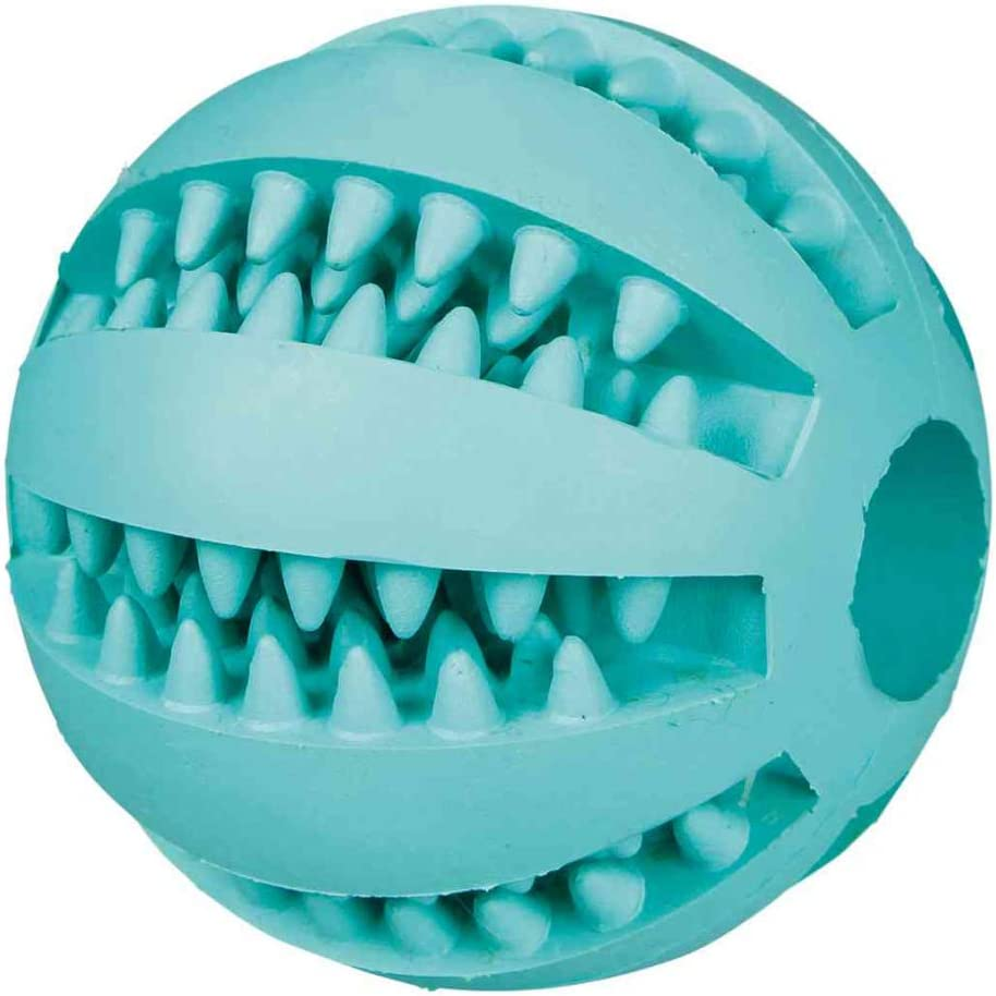 TRIXIE Pelota Béisbol Denta Fun, Menta, Caucho, ø7 cm, Perro