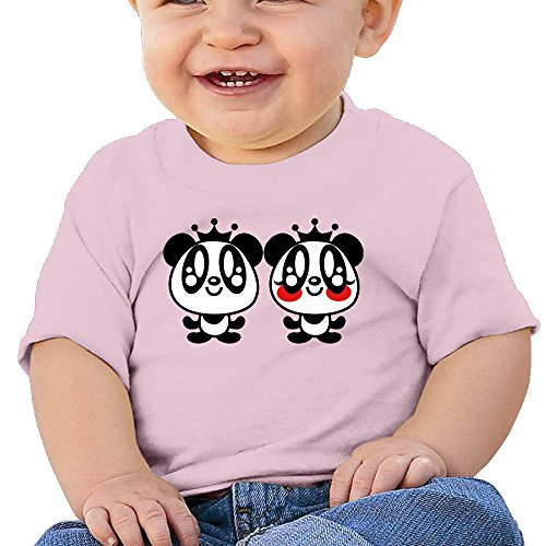 [YiYa Baby Boy's & Girl's Panda Short Sleeve Romper Bodysuit Outfits For 6-24 Months Pink 6 M] (Toddler Conductor Outfit)