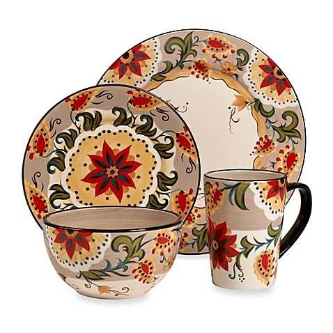 Round Place Setting Abundance Of Color Decorated - Ray Odessa