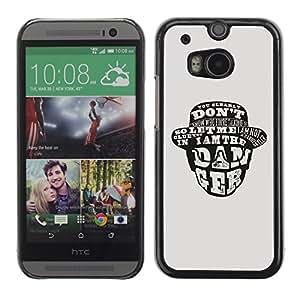 TopCaseStore / la caja del caucho duro de la cubierta de protección de la piel - I Am The Danger - HTC One M8