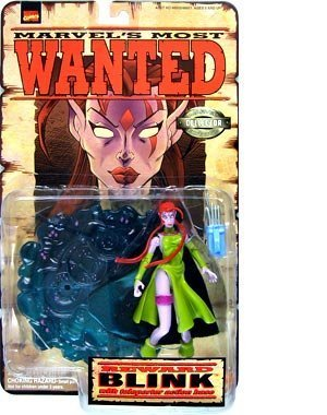 (Marvel Comics Year 1998 Collector Editions Marvel's Most Wanted Series 5 Inch Tall Action Figure Set - BLINK with Teleporter Action)