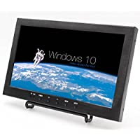 10.1 Inch IPS 1366×768 Portable LCD Monitor with VGA/HDMI/USB/AV/TV Interface, 400cd/m2 Brightness, Without Touch, Applied to Various Terminal Display (Black)