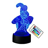 Amro 2018 Spider-Man 3D Night Light Remote Control 7 Color Gradient Change Acrylic Panel Led Light USB Charging Bedroom Lamp Office Desk Lamp Home Decoration Christmas Halloween Gift Boy Birthday