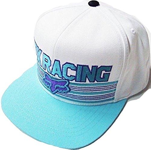 Fox Racing Speed Way White/Blue/Purple Flat Brim Snapback...