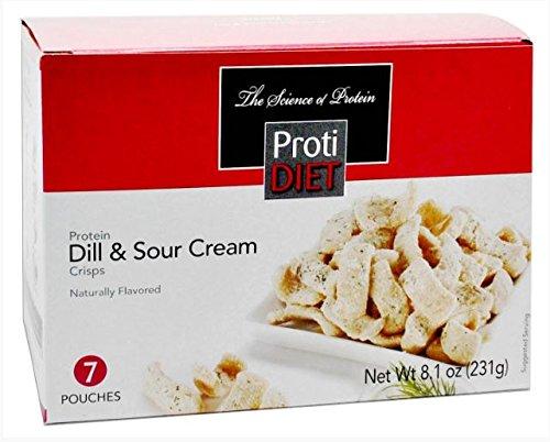 Proti Diet Dill & Sour Cream Crisps - 7 servings - 15 grams protein per serving