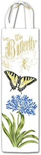"""product image for Alice's Cottage Wine Caddy The Butterfly with Flower Design   25-478, Size 3 ½"""" x 13 ½"""""""