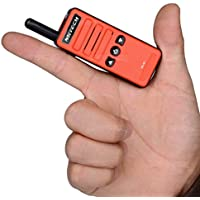 NKTECH Super Mini NK-M1 UHF 400-470MHz 16 Channels Ham Transceiver Two way Radio Walkie Talkie 1200mAh 3.7V Li-ion Batteries Accessories Red Free Earpiece