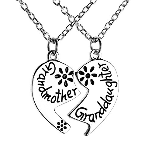 JOVIVI Grandmother Granddaughter Pendant Necklace