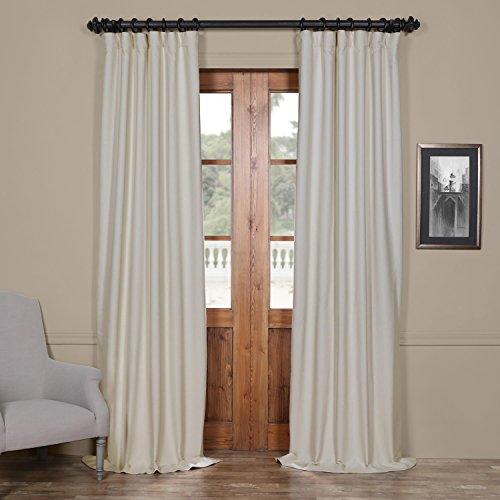 Half Pole (Half Price Drapes BOCH-PL4201-96 Bellino Blackout Curtain, 50 x 96, Cottage White)