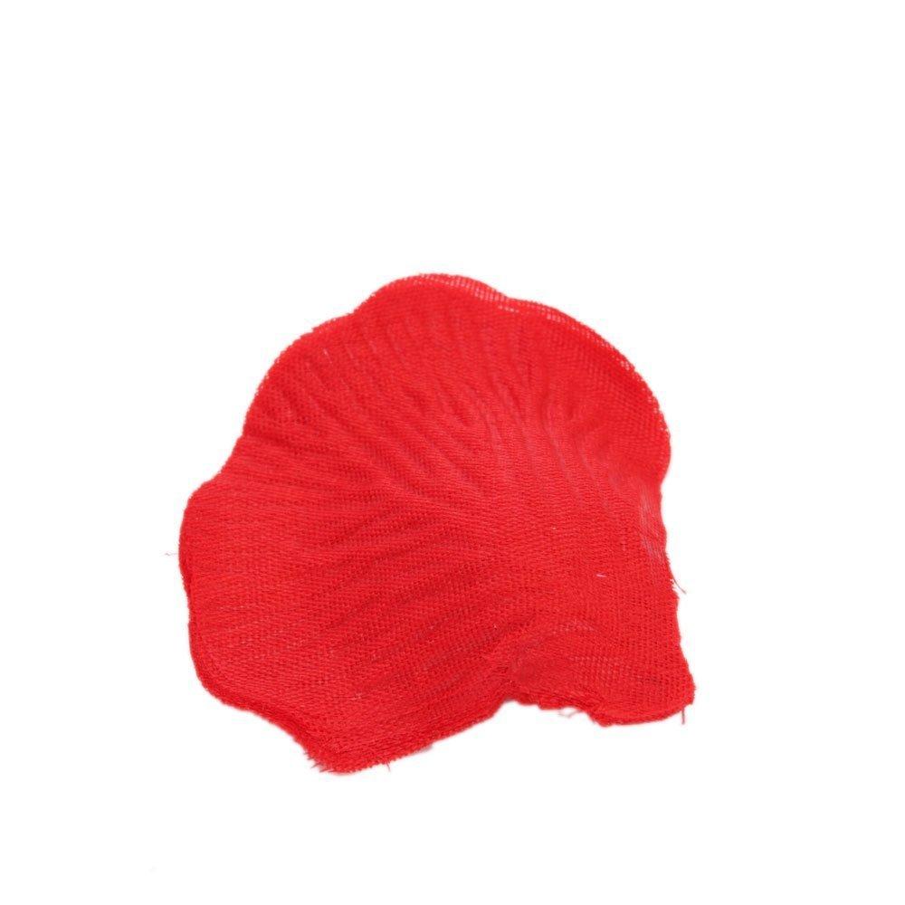 Sonline 2000 pz petali di rosa in seta rossa per feste matrimonio