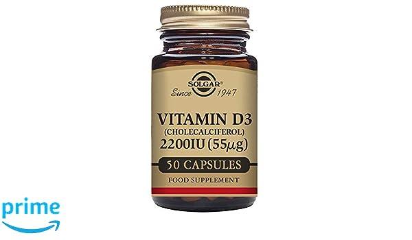 SOLGAR VITAMINA D3 2200ui (55mcg) 50cap.veg.: Amazon.es: Salud y cuidado personal