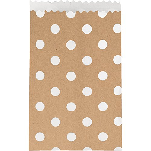 Creative Converting 20 Count Paper Treat Bags with Polka Dot