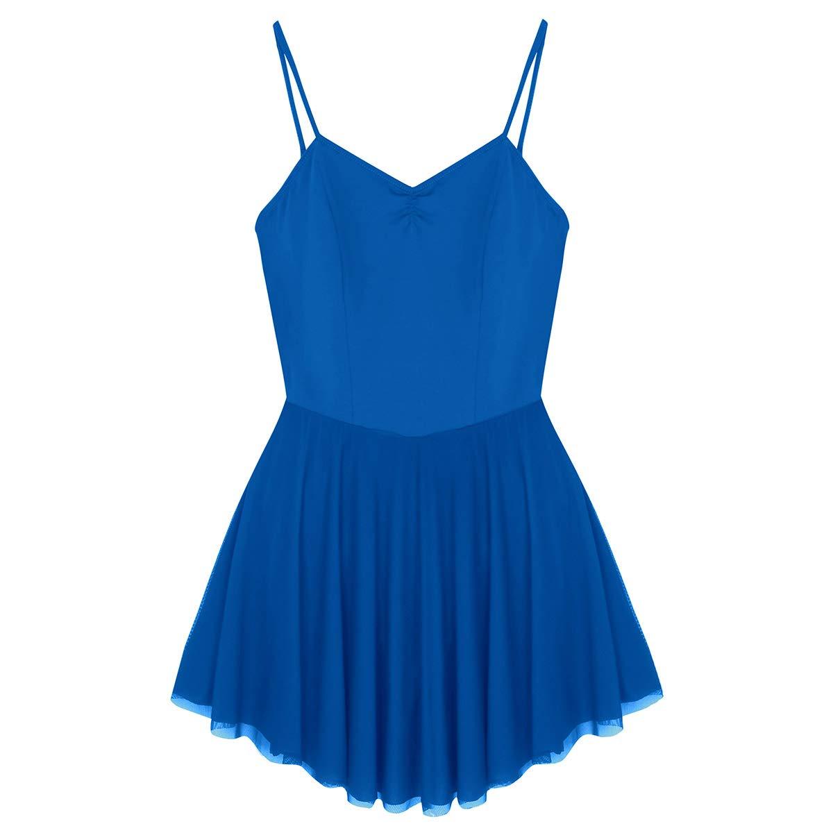 YiZYiF Traje de Tirantes Danza Ballet para Mujer Elegante Vestido con Tirantes de de Algodón Maillot Adulto para Gimnasia Ejercicio Actuación 9c366e
