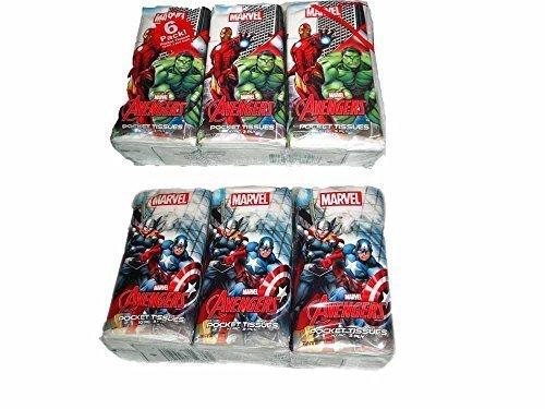 Marvel Avengers Pocket Tissues - 6 Count (Goldilocks Halloween)
