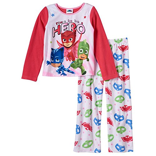 Girls Sleepwear Fleece Pj (Character Sleepwear Girls Girls' Pj Mask 2Pc Set, 2T)