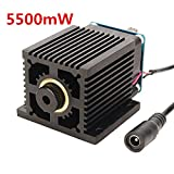 445nm 5500mW Blue Laser Module With Heat Sink For DIY Laser Engraver Machine