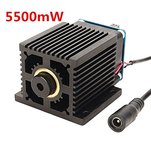 445nm 5500mW Blue Laser Module With Heat Sink For DIY Laser Engraver Machine by LEEPRA (Image #10)