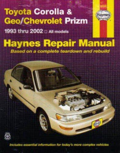 (H92036 Haynes Toyota Corolla Geo Chevrolet Prism 1993-2002 Auto Repair Manual)