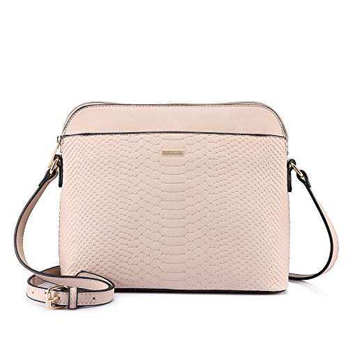 Pink Cross Body (LOVEVOOK Stylish Crossbody Bags Purses Shoulder Bag for Women in Contrast Design (Pink))