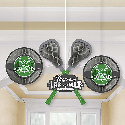 Amscan 181577 Crosse Check Honeycomb Party Decoration, One Size, Multicolor ()