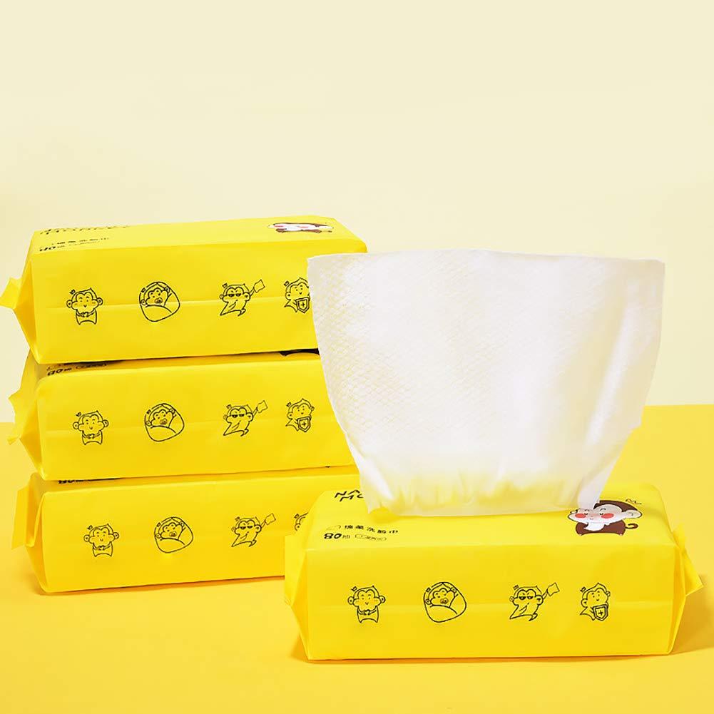 Trockene Pfleget/ücher Weiches Handtuch 100/% Baumwolle Einweg Gesichtstuch Trockene T/ücher Geeignet F/ür Empfindliche Trockene Haut Weiche Pfleget/ücher 1 Paket-80 St/ücke