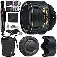 Nikon AF-S NIKKOR 58mm f/1.4G Lens + 72mm 3 Piece Filter Set (UV, CPL, FL) + 72mm +1 +2 +4 +10 Close-Up Macro Filter Set with Pouch + Microfiber Cleaning Cloth + Lens Pen Cleaner Bundle