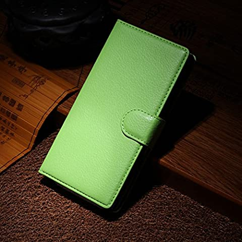 Elfe Boutique Nokia Lumia 930 Leather Case - Litchi Skin Style Wallet Card Pouch Stand Devise Flip Leather Case Cover for Nokia Lumia 930 ( Green (Nokia Lumia 930 Mobile)