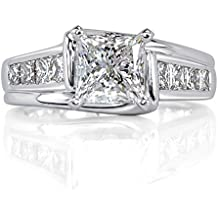 Mark Broumand 2.01ct Princess Cut Diamond Engagement Ring