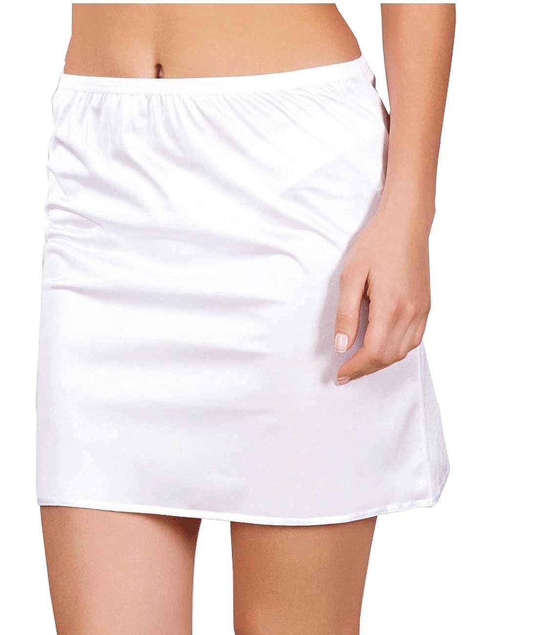 Damen Unterrock Kurz  Beige Schwarz Weiß Jupon Unterkleid S M L XL NBB Lingerie