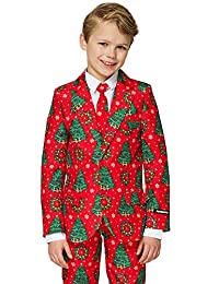 Suitmeister Christmas Suits for Boys- Includes Jacket, Pants & Tie