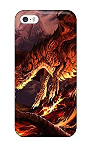 Durable Defender Case For Iphone 5/5s Tpu Cover(lava Drake)